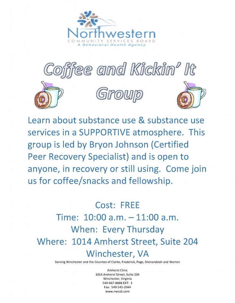 Coffee and Kickin It Flyer