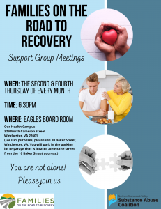Families On the Road to Recovery Flier 2