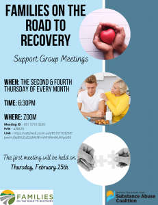 Families On the Road to Recovery Virtual Meeting 2-25