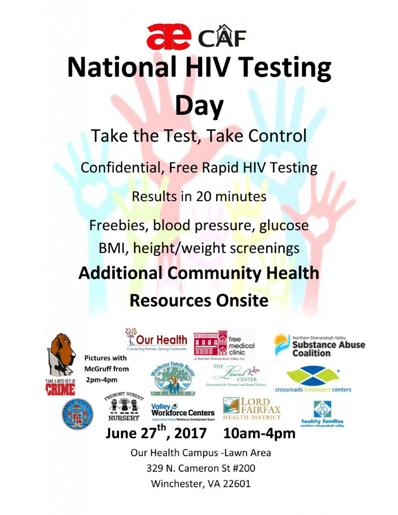 National HIV Testing Day 2017 flyer