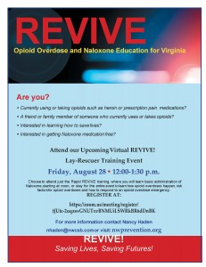 REVIVE Training Flyer August 28