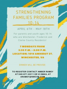 Strengthening families program 10-14 April 2020 Cycle